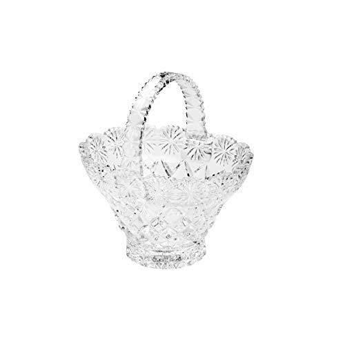 Cesta de Cristal Diamond Lyor Transparente 17 x 13.5 x 18.4 cm