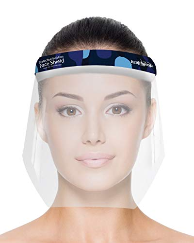 Healthgenie Face Shield (Pack of 10), Safety Face Shield 350 Microns Unbreakable Shield For Men And Women