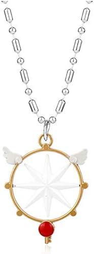 Anime Jewelry Sakura Card Captor Necklace Collares Cardcaptor Sakura Sealing Wand Key Necklace-30