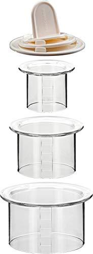 Tescoma 422210 Jgo 3 Moldes Emplatar Redondos Presto Foodstyle, plástico, Transparente/Blanco