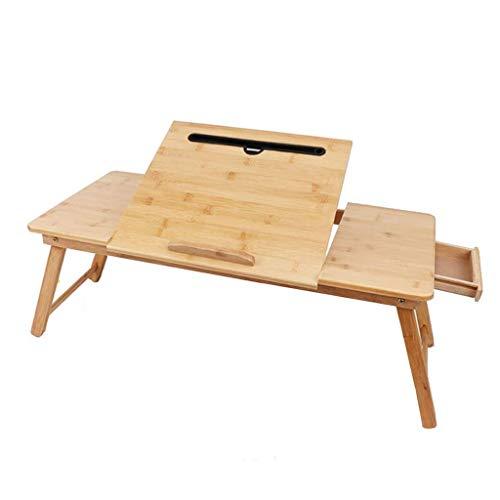 GZQDX Lap Bureau Bed Bureau voor Laptop met ingebouwde muismat Verstelbare Laptop Stand voor Bed, Schrijven Bureau, Lap Bureau, Laptop Bureau, Lade Tafel Kantelplank