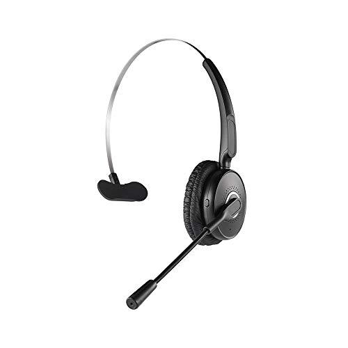 Bluetooth Headset 4.2 für PC Computer Handy zum Telefonieren 2 Handys Geräte Büro Office mit Mikrofon Callcenter 14h Auto Bügel iPhone 6s 7 Plus 8 X XS XR Samsung Galaxy S8 S9 S10 Huawei P20 P30