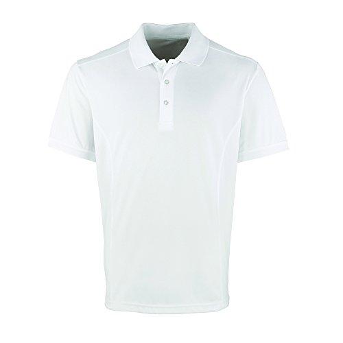 Premier Cool Checker, Pique Polo - Blanc -