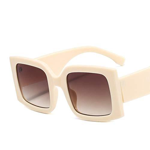 UKKD De Gran Tamaño Cuadrado Gafas De Sol Vintage Mujeres Moda Gafas De Sol Sombras Verdes Uv400 Hombres Femenino