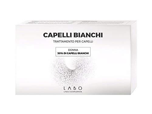 LABO Cheveux blancs 30 % Traitement femme Repigmentation naturelle 20 ampoules