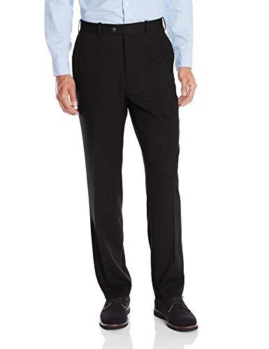U.S. Polo Assn. Men's Flat Front Pant, Black Stripe, 40W x 32L