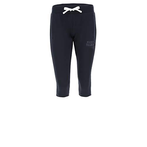 FREDDY Pantalon Corsaire en Molleton léger avec imprimé à Paillettes - Bleu Marine - Extra Small