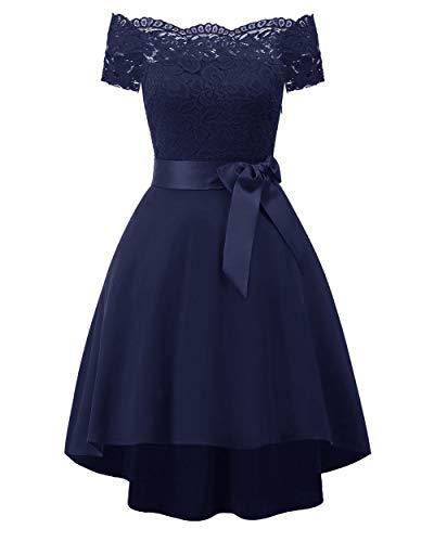 YZT QUEEN Elegant vintage kanten jurk voor dames, kant, naaien, cocktailpartyjurk, galabal, bruidsmeisjesjurk