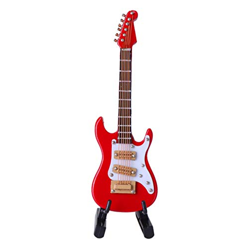 Garneck Mini Modelo de Guitarra Guitarra Eléctrica Estatuilla Instrumento de Música Réplica...