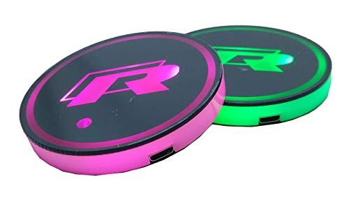 Smd - Set di 2 sottobicchieri LED per auto, compatibili con R Racing, 7 modalità di cambio di colore