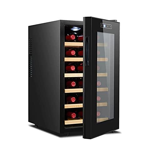 ZHZHUANG 20 Botella de Vino Refrigerador, Compresor Independiente Refrigerador de Vino, Refrigerador de Vino para Vino Blanco Rojo, Champagne Y Más, Negro,Negro,34.5X49X66.5Cm