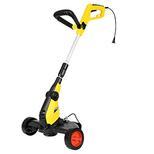 Check Out This MLXG 750w Electric Grass Trimmer with Wheel, 30cm Cutting Width 80°Adjustable Head a...