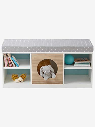 Vertbaudet 2-in-1-Sideboard für Kinder, Kinderbank weiß/Natur ONE Size