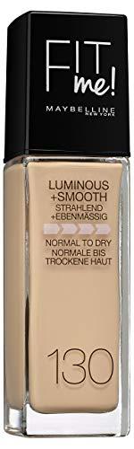 Maybelline New York Make Up, Fit Me! Foundation mit LSF18, Für makellose Haut, Alle Hauttypen, Nr. 130 Buff Beige, 30 ml