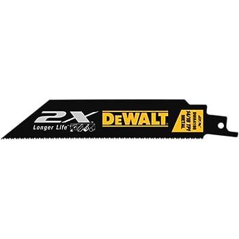 """15 DEWALT 6/"""" DEMOLITION RECIPROCATING SAW//SAWZALL BLADES 6TPI BI METAL DWA4166"""