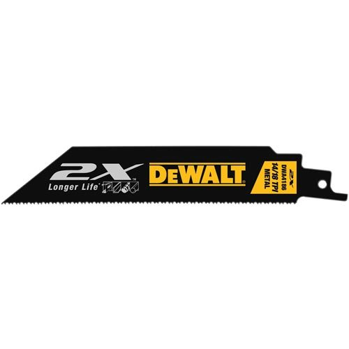 DEWALT Reciprocating Saw Blades, Metal, 6-Inch, 14/18TPI, 5-Pack (DWA4186)