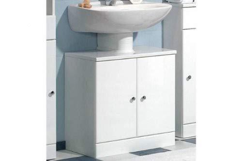 Pelipal 954 Small Waschbeckenunterschrank, Holzdekor, Weiß Hochglanz, 33,0 x 55,0 x 56,0 cm