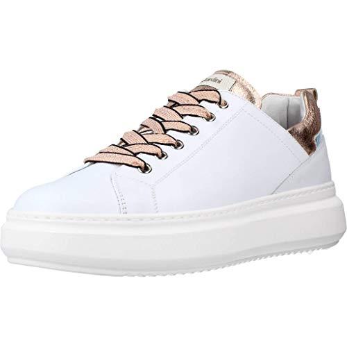 Nero Giardini E115263D Skipper Bianco Rock Phard Sneakers Sportive Donna Zeppa Bassa in Pelle (Taglia 37)