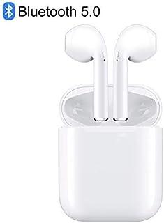 【最新 Bluetooth5.0イヤホン】完全 ワイヤレス イヤホン iPhone Airpods ブルートゥース イヤホン 自動ペアリング 高音質 充電ケース付き 左右分離型 両耳 iOS Android 対応 技適認証済み (ホワイト)…