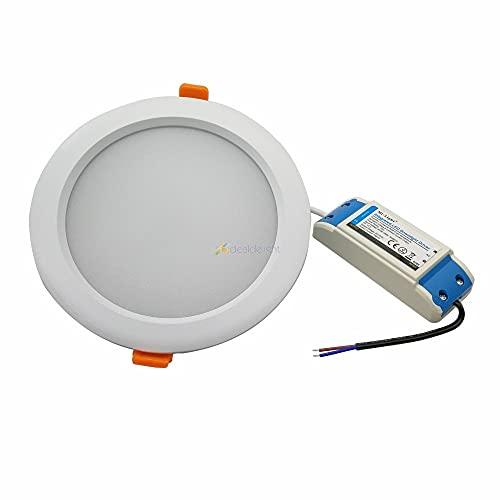 CESULIS 2.4 g 15W RGB + CCT Dimmable LED Downlight FUT069 IP54 IP54 IP54 MI.LIGHT DOWNLIGHTS AC86-265V Luz redonda Reducida para el baño (Wattage : 15W LED Downlight)