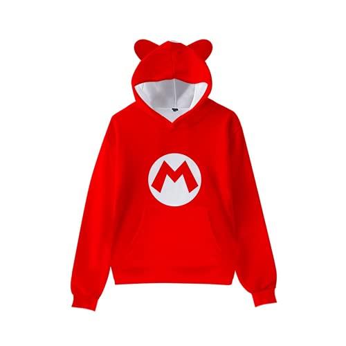 LIYIMING Super Mario - Sudadera con capucha para niños, impresión 3D, diseño de Super Mario, para invierno, primavera y otoño