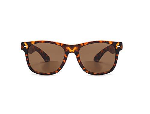 Viscare - Gafas de sol bifocales con bisagras para hombre y mujer, diseño Wayfarer Primavera para lectores de sol + funda rígida, 30 días de garantía de devolución.