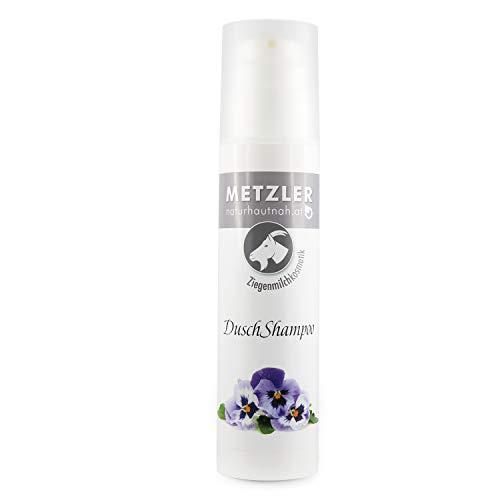 METZLER Ziegenmilch - Duschshampoo, Wertvolles Duschgel Und Haarshampoo, 1er Pack(1 x 200 ml)
