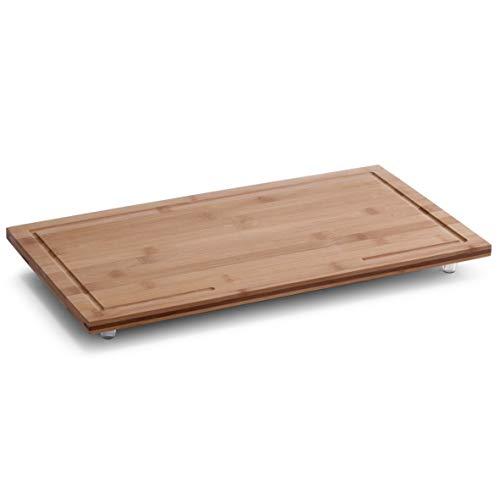 Zeller 25324 Herdabdeck-/Schneideplatte, Bamboo, 50 x 28 x 4 cm