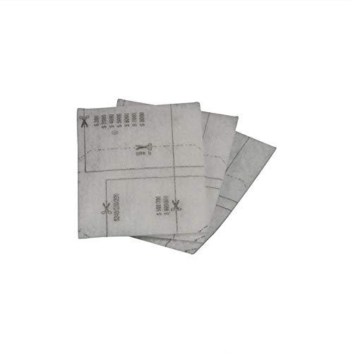 Miele Filter Motorschutzfilter Matte 170x115mm, 3 Stück 6713110