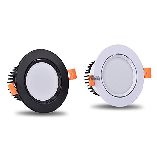 TANGIST Lámpara de Downlight LED Dimmable 3W 5W 7W 9W 12W 15W COB LED AC 110V / 220V Techo Empotrado Downlights Ronda (Emitting Color : Warm White)