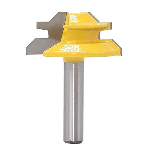 WSOOX 8mm Schaft Verleimfräser Gehrung Verleimfräser Oberfräse 45 Grad Lock Miter Router Bit Holzbearbeitung Fräser Schneidwerkzeug für Graviermaschine Trimmmaschine