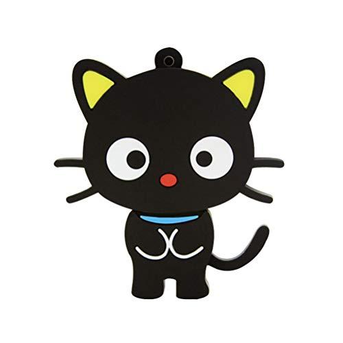 Novità e cute Animal Series Cat Shape USB 2.0Flash Drive memory stick divertente Pen Drive Jump Drive U disk regalo (nero)