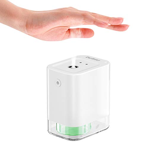 Automatic Alcohol Disinfection Sprayer,NorSway Mini Infrared Induction Touchless Hand Sanitizer Dispenser, Portable Sterilizer Suitable for Home, Restaurant, School, Hotel,Company