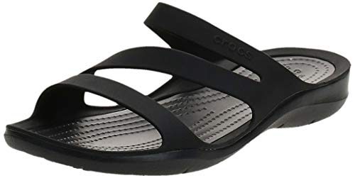 Crocs Swiftwater Sandal Women, Chanclas para Mujer, Negro (Black/Black), 38/39 EU