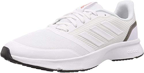 adidas Herren Nova Flow Turnschuh, Footwear White/Footwear White/Grey, 45 1/3 EU