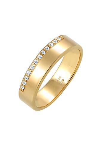 DIAMORE Ring Damen Verlobung Diamant (0.12 ct.) Luxuriös in 585 Gelbgold