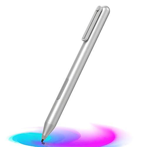 MoKo Penna Stilo Compatibile con Surface, Surface Pro 7/6/5/4/3/X, Surface Go 2/Go, Surface Laptop 4/3/2/1, Surface Book 3/2/1, Studio 2/1, Penna Stilo con Sensibilità di Pressione 1024, Argento