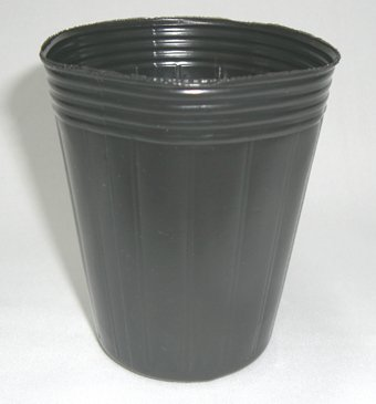 ポリポット深型 7.5cm 黒 100個