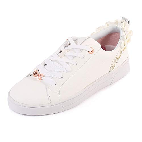 Ted Baker Damen Astrina Sneaker,Weiß (White Whte),39 EU