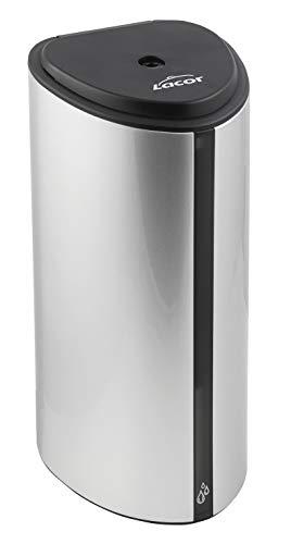 Lacor 91541-Soporte (160 cm) + Dispensador automático de jabón/Gel hidroalcohólico con Sensor y detección Entre 5-9 cm de Altura, Cierre con Llave, función de Bloqueo Anti-Robo, Plateado, Gris