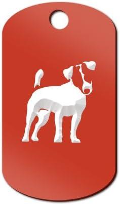 Mister Petlife Jack Russell Terrier Engraved Keychain//GI Tag JRT Parson Black