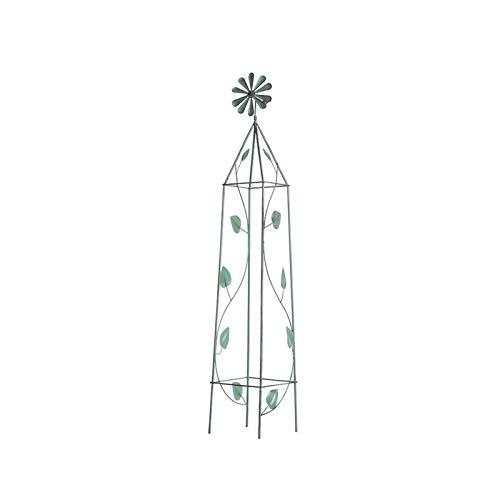 BFSHY Enrejado De Obelisco De Jardín para Plantas Trepadoras, Soporte De Flores De Enrejado De Hierro Forjado para Enredaderas, Torre Alta De Acero Al Aire Libre, Jardinería Vertical Decorativ