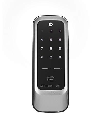 Yale J20 Stainless Steel PIN Code, RFID Card, App Access and Bluetooth Optional Rim Lock (Black), Matt Finish