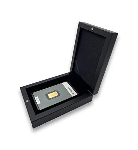 Goldbarren 2g Kinebar Heraeus im edlen Geschenk-Etui mit Grußkarte - Schwarz - Feingold 999,9 (2g Gold Kinebar)