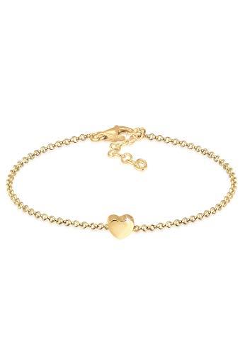 Elli Armband Damen mit Herz Anhänger Basic in 925 Sterling Silber