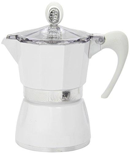 G.A.T. 2790000080 Espressokocher bereitet bis zu 3 Tassen, weiß