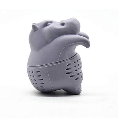 advancethy Tee-Ei aus Silikon, BPA-frei, Nilpferd-Design, Grau, für losen Tee und Teeblätter (Sieb)