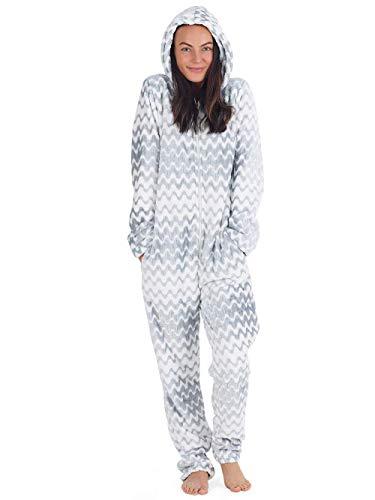 Onesie dames knuffelige jumpsuit pyjama met geometrische motieven