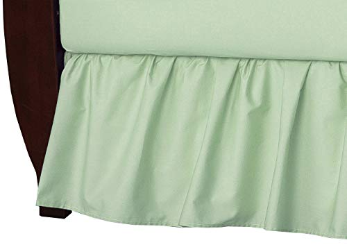 American Baby Company 100% Natural Cotton Percale Ruffled Crib Skirt, Celery, Soft Breathable, for Boys and Girls