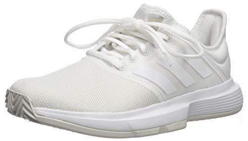 adidas Women's GameCourt Wide Tennis Shoe, White/White/Matte...